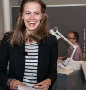 Ellen Trane Nørby på valgdagen.
