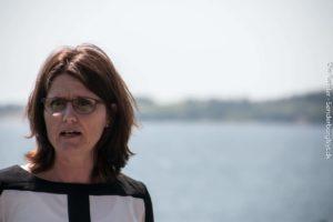 Tina Franson Spile vil gerne til Christiansborg og blandt andet gøre sit for en bro til Fyn. <div class=