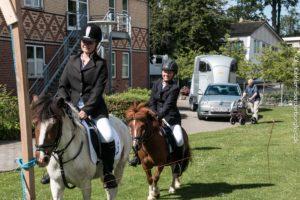 Emilie og Emilie kom fint gennem opvarmningen, men så gik den mindste hest i strejke.