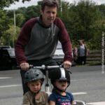 Kronprins og børn på vej fra Gråsten Rideklub. Foto: Ole Kæhler