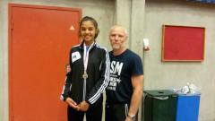 Jasmin og hendes træner.