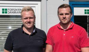 Steffen Roth og Adam Anderson er klar til at komme og hjælpe dig med at forsikre rigtigt.