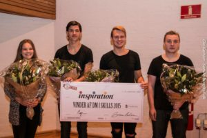 Josefine, Niclas, Casper og Lasse er lokale mestre i Skills.