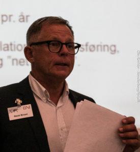 BNI Danmarks administrerende direktør, René Bruhn fortæller potientelle forretningspartnere om fordelene ved at være med.