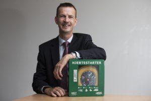 DSBs investering i over 500 hjertestartere vil blive fulgt op af mange andre koncerner og organisationer, siger Allan Nykjær Pedersen fra Lotek A/S,   Foto: Lene Esthave