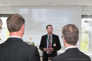 Direktør Ingolf Müller sætter pris på indsatsen fra alle de, der var en del af byggeriet.