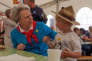 Spejdernes Lejr 2012 fik besøg af Prinsesse Bennedikte. Foto: Jon Kristensen