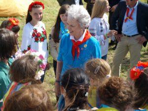 Prinsesse Benedikte i Spejderlejren 2012