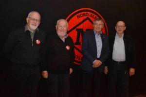 Klubbens fire æresmedlemmer.