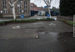 Brugervenlige p-pladser bag Sønderborghus.