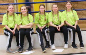 Lærke Aaskov Nielsen, Louise Sørensen, Sofie Sabina Koch, Kia Sørensen og Maria Bock. Foto: KGGO