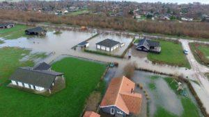 Skovmose ved den seneste oversvømmelse. Foto: Max Grube, drone-foto.dk