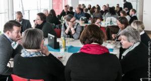 NaturErhvervsstyrelsesansatte møder andre tilflyttere i Alsion.