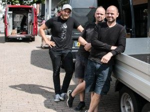 Ejerne,. brødrene Oubæk til højre og Christian Brandt.