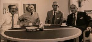 Jørgen Ley, Jens Schmidt, Poul G. Larson og Robert Friise.