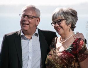 Johnna og Leif Maibom fejrede også deres 35 år i Sønderborg Sommerrevy. <div class=