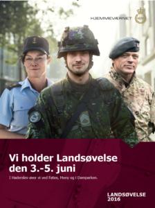HJV-plakat til landsøvelsen