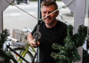 Kent Nissen træner cykelringridning.