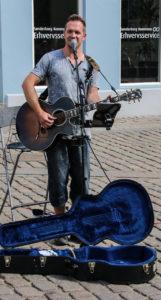 Michael Vogensen på Rådhustorvet.