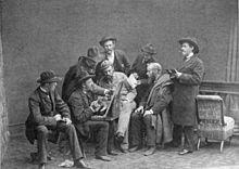 Egernsundmalerne, foto af Wilhelm Dreesen, 1882