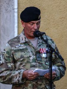 """Seniorsergent M. Ipsen fortalte om det at være """"derude""""."""