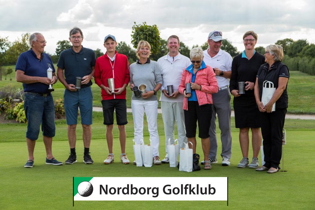 Vinderne fotograferet af Nordborg Golfklub.