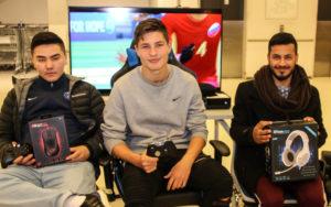 Fra venstre Jawad, Ardit og Helal.