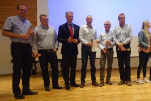 Fra venstre Flemming Callesen, Thomas Lorentzen, Thorbjørn Philippsen, Hans Vigen, Jørn Christensen og Claus Petersen.