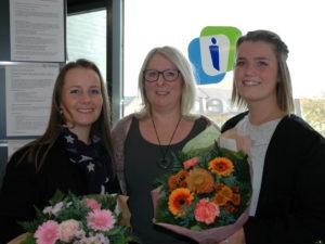 På billedet ses fra venstre, Christina Vibe Utzon, JOBINPLACE, Cornelia Greiner og Christin Thaysen fra Jobcenter Sønderborg. <div class=